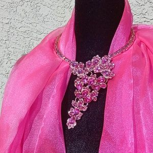 Hot Pink Statement Necklace
